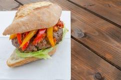 Italian burger Stock Image
