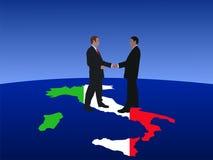 Italian business men meeting Stock Photos