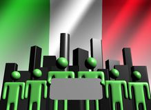 Italian business team with skyline Stock Images