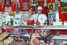 Italian butcher Royalty Free Stock Photo