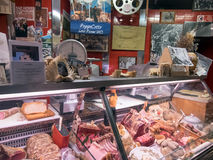 Italian butcher Stock Image