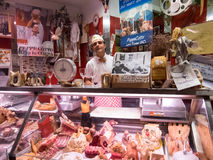 Italian butcher Royalty Free Stock Photography
