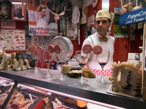 Italian butcher Stock Photo