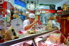Italian butcher Royalty Free Stock Images