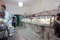 Italian butcher shop Royalty Free Stock Photography