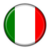 Italian button flag Royalty Free Stock Photos