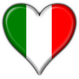 Italian button flag heart shape Stock Images