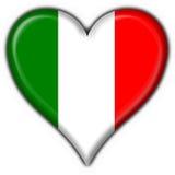 Italian button flag heart shape stock illustration