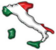 Italian button flag map shape Stock Photography