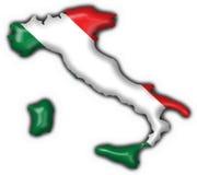 Italian button flag map shape Stock Photography