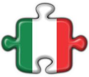 Italian button flag puzzle shape Royalty Free Stock Photography
