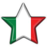 Italian button flag star shape Stock Photos