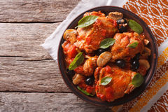 Free Italian Cacciatori Chicken On A Plate . Horizontal Top View Stock Photos - 62443703