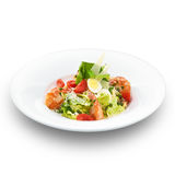 Italian caesar salad with royal shrimps Stock Images