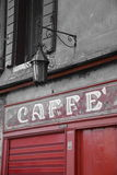 Italian Cafe scene, coffee food Europe Royalty Free Stock Photo