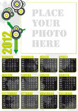 Italian calendar 2012 with big photo frame. Italian calendar 2012 modern grunge style with big photo frame royalty free illustration