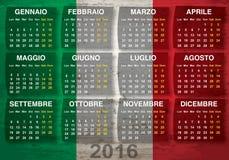 Italian calendar 2016 Stock Photos
