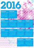 2016 italian calendar graphic squares. Modern style background Stock Images