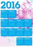 2016 italian calendar graphic squares Stock Images
