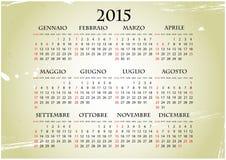 2015 italian calendar Royalty Free Stock Image