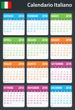 Italian Calendar for 2018. Scheduler, agenda or diary template. Week starts on Monday.  Royalty Free Stock Photography
