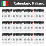 Italian Calendar for 2018. Scheduler, agenda or diary template. Week starts on Monday.  Royalty Free Stock Image