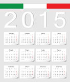 Italian 2015 calendar. Italian 2015 vector calendar with shadow angles. Week starts from Monday stock illustration