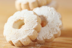 Italian Canestrelli cookies sprinkled with icing sugar Stock Image