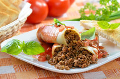 Italian cannelloni Royalty Free Stock Images