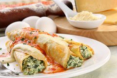Italian Cannelloni Royalty Free Stock Photo