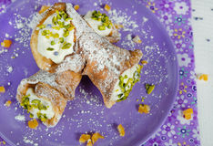 Italian Cannoli Stock Images