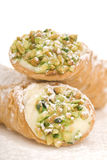 Italian Cannoli on white Stock Photo