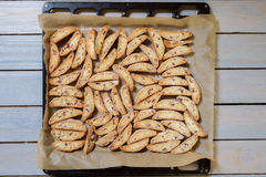 Italian cantucci biscuits Stock Photography