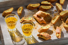 Italian cantucci with peanut Royalty Free Stock Photography