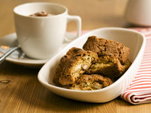 Italian cantuccini almond cookies Stock Photos