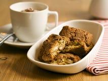 Italian cantuccini almond cookies stock photos