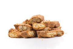 Italian cantuccini cookie with almond Royalty Free Stock Photos
