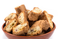 Italian cantuccini cookie with almond Royalty Free Stock Images