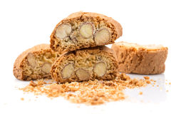 Italian cantuccini cookie with almond Royalty Free Stock Image