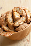 Italian cantuccini cookies in bowl Stock Photo