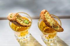 Italian cantuccini with peanut Stock Photos