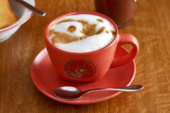 Italian cappuccino breakfast royalty free stock image