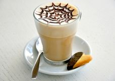 Italian cappuccino and cookie breakfast  Royalty Free Stock Photos
