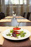 Italian caprese on plate Royalty Free Stock Image
