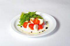 Italian caprese salad Stock Images