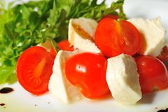 Italian caprese salad Royalty Free Stock Images