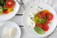 Italian caprese salad royalty free stock photography