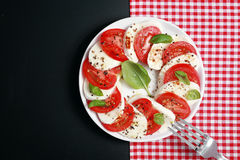 Italian Caprese salad with mozzarella and tomato Stock Images