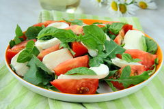 Italian Caprese Salad mozzarella with tomatoes Stock Images
