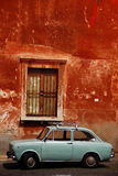 Italian car. In the centre of Rome, in the Trastevere neighbourhood Stock Image